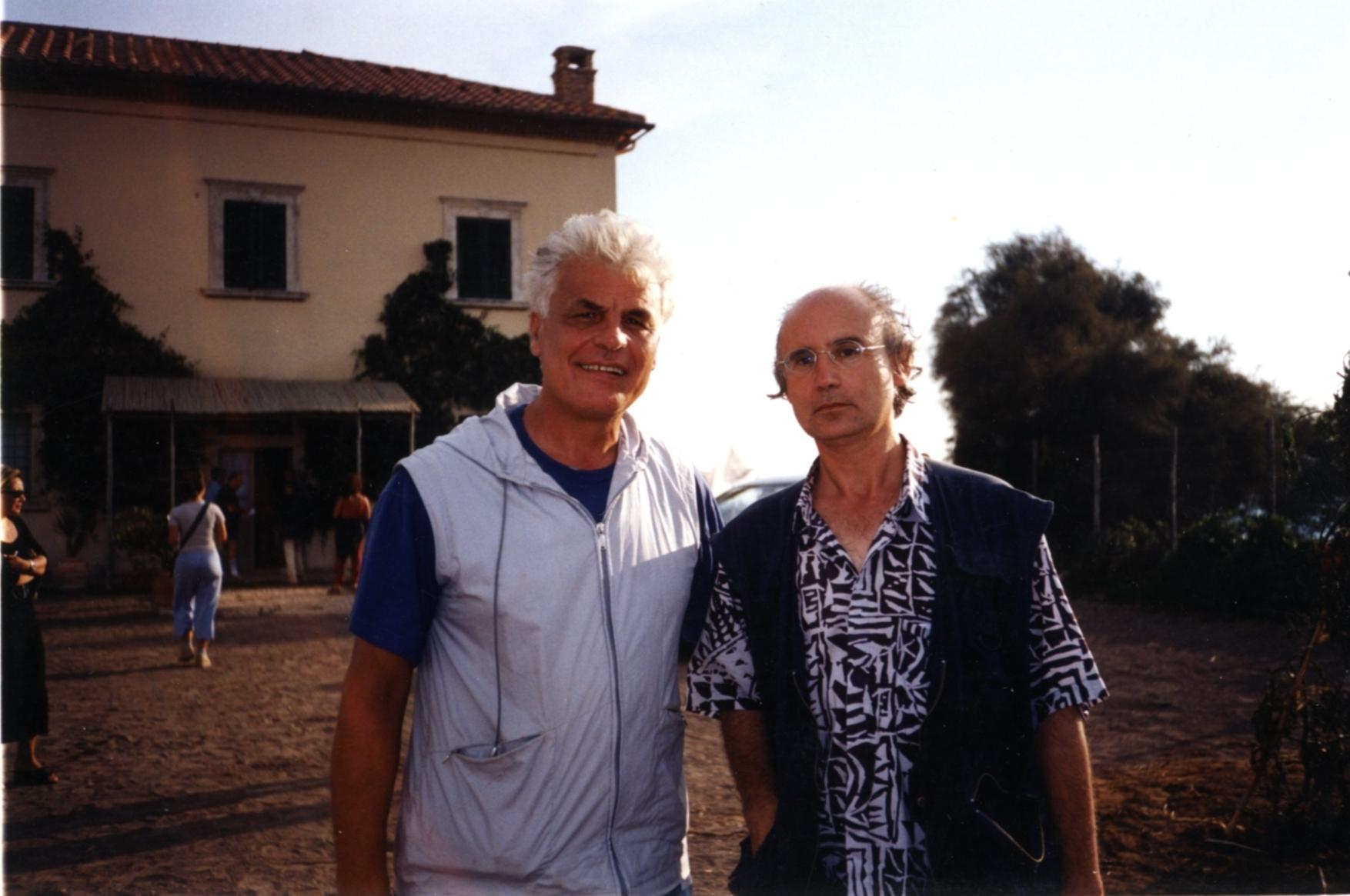 Michele Placido sul set di Borgo Sabotino